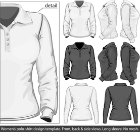 Elegant Longsleeved Shirt Template 03 Vector