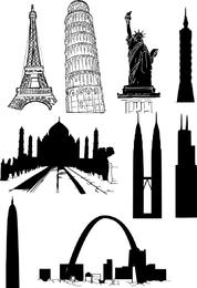 Vector de edificios famosos