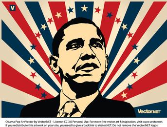 Ilustração patriótica de Obama
