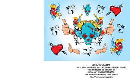 Ilustración fresca del cráneo