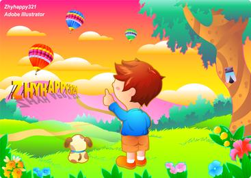 Children Color Vector
