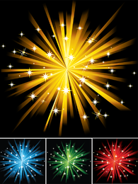 Colorful firework set