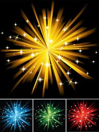 Conjunto de fogos de artifício coloridos