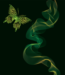 Brilliant Neon Butterfly 04 Vector