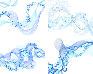 Wavy Line Blisters Vector