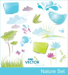 Vector lindo del vector de los elementos