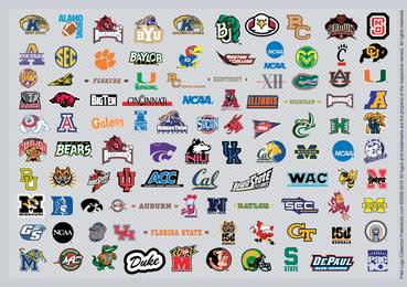 Baloncesto de la NCAA Logos Pt1