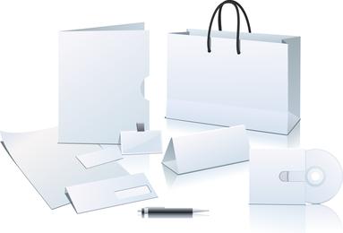 Vetor de elemento em branco de aplicação empresarial em branco