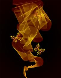 Brilhante néon borboleta 01 vector