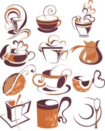 Coffee Draft Line Elements 01 Vector
