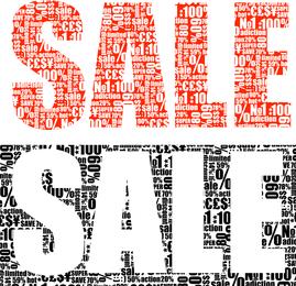 Vector texto apilado venta