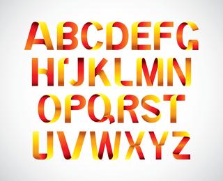 Número de letra simple U0026amp Vector