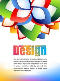 Cartazes de publicidade colorida 03 Vector