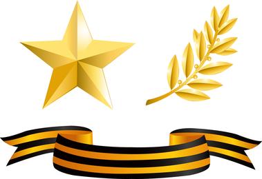 Vector de elementos de medallas