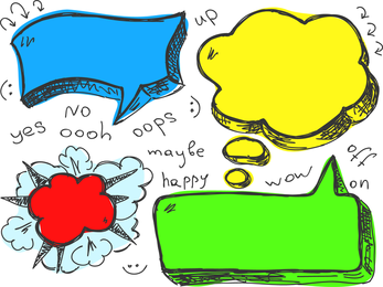 Lovely Handdrawn Dialogue Bubble Vector 6