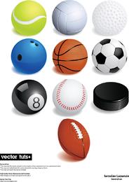 Una variedad de juegos de pelota vector