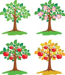 Ilustraciones vectoriales de árboles