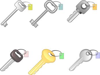6 diferentes juegos de llaves