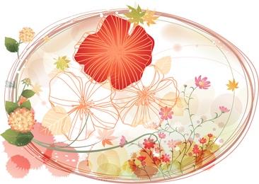 Floral Oval Flat