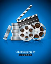 Adereços de filmes e equipamentos Highdefinition imagens clip-art