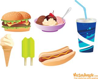 Junk Food Vectors