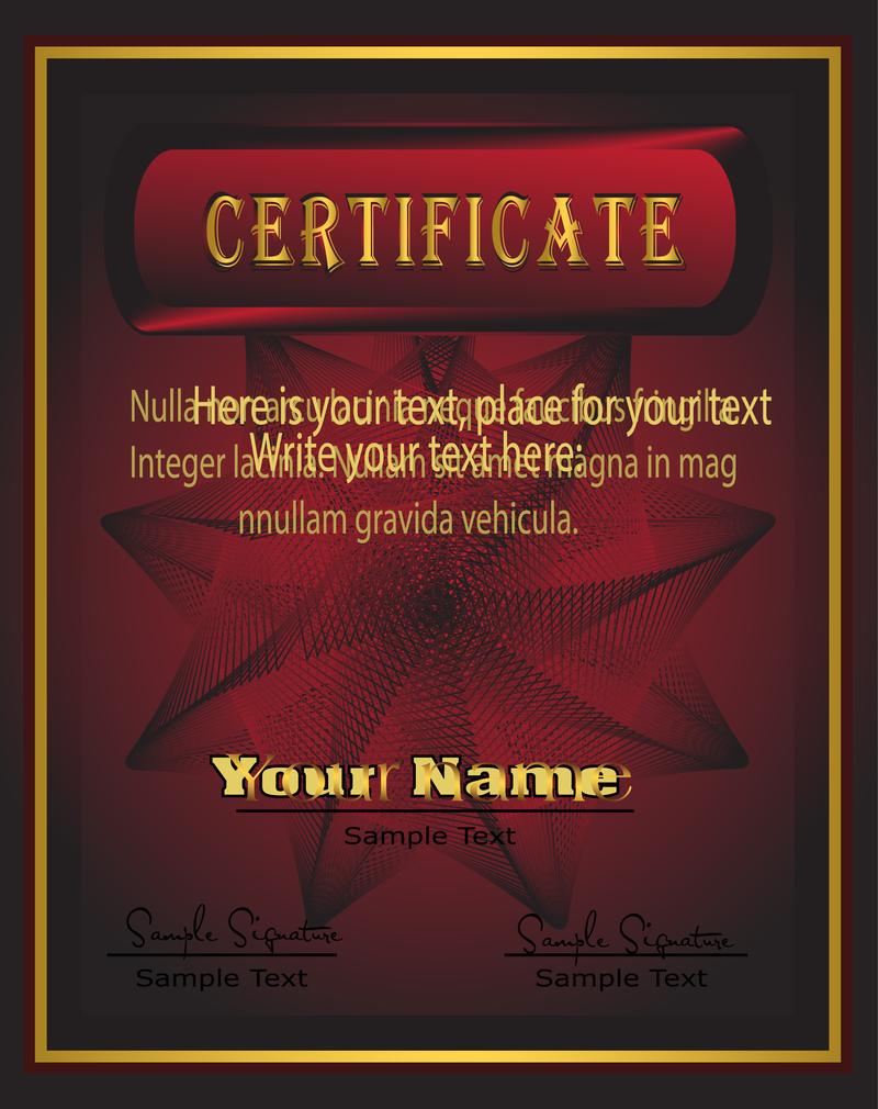 acknowledgement certificate templates
