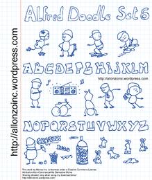 Alfred Doodle Set e letras