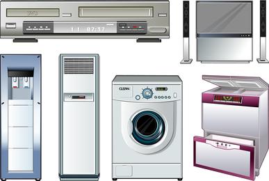 Vector de electrodomésticos
