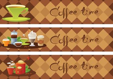 Vector de tiempo de café 5