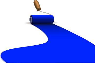 Ilustração de tinta azul
