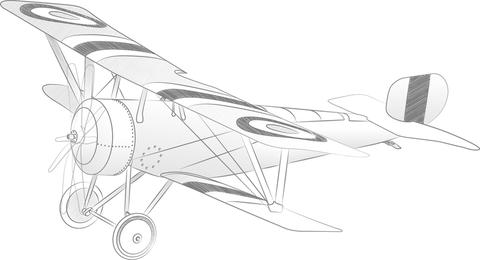 Vector ilustración de avión