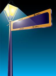 Illustrator Street Light Sign