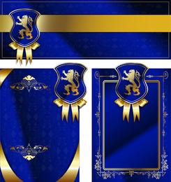 Royal Shield Ribbon Card Vector