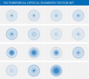 Conjunto de vectores de elementos ópticos