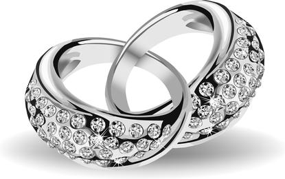 Precioso anillo de bodas 02 Vector