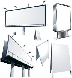 Cartel de publicidad exterior modelo 01 vector