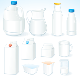 Milch-Themenvektor 1