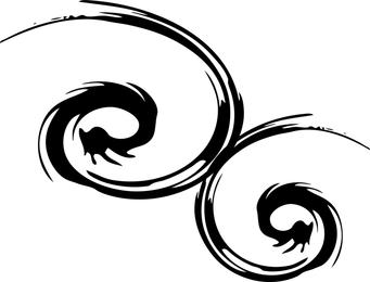 Gotisches Spiral Design