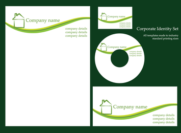 5 Sets Of Simple Business Vi Template Vector