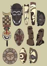 Antike Masken-Vektoren
