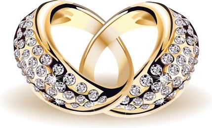 Precioso anillo de bodas 01 Vector