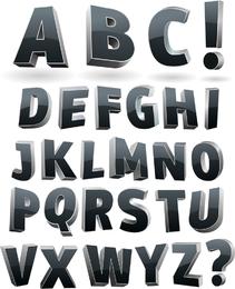 Vector de letras tridimensionales
