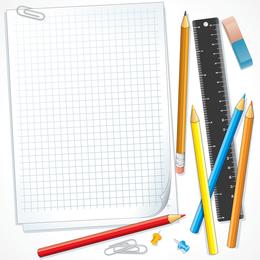 School Supplies 01 Vector