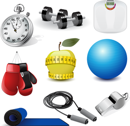 Sports Equipment 02 Vector