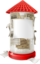 Cajas Cubiertas Con Pequeño Vector De Publicidad
