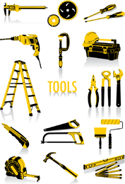 Vector de herramientas comunes