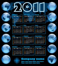 Business 2011 Calendar Template