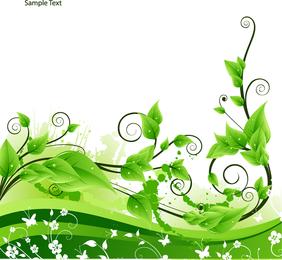 Vector de la planta de ratán verde