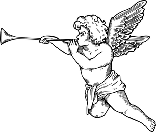 Illustrated cupid Valentine design