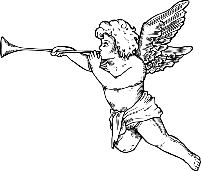 28 Angel Drawings Free Drawings Download: Illustrated Cupid Valentine Design